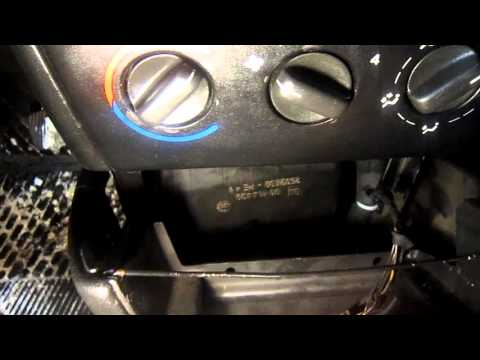 Снятие радиатора печки Opel Vectra B