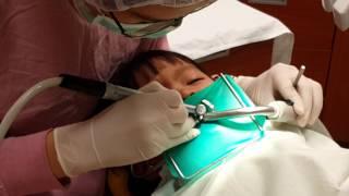 到長庚兒童補蛀牙,第一次做侵入性的牙齒治療!