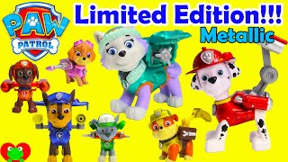 getlinkyoutube.com-Paw Patrol Limited Edition Metallic Action Pack Pups With Everest