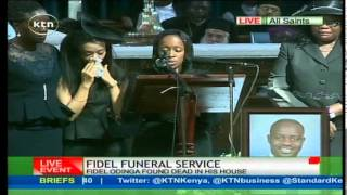 getlinkyoutube.com-Fidel Odinga's widow, Lwam Bekele, breaks down eulogizing her late husband