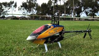 getlinkyoutube.com-T-Rex 450 Pro 3GX V3 - My First Flight