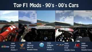 getlinkyoutube.com-Top F1 Mods - 90's - 00's Cars (rFactor 2 & Assetto Corsa)