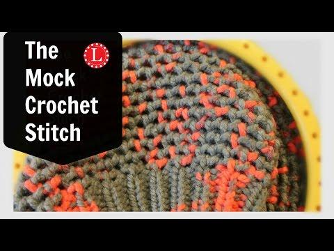 Loom Knit Stitch Mock Crochet