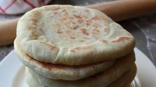 getlinkyoutube.com-طريقة إعداد خبز في المنزل - خبز الدار بالسميد و الفرينة -(chapati) How to Make Pita Bread at Home