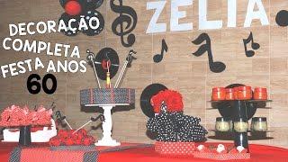 IDEIAS PARA FESTA ANOS 60 / CENTRO DE MESA / BANDEJAS #FestaAnos60Ep3