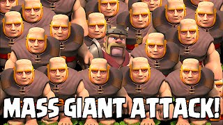 getlinkyoutube.com-Clash of clans - MASS GIANT ATTACK (TH8 Awesome Raids)