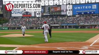 Israel del Toro throw first pitch at Chicago White Sox July 4th