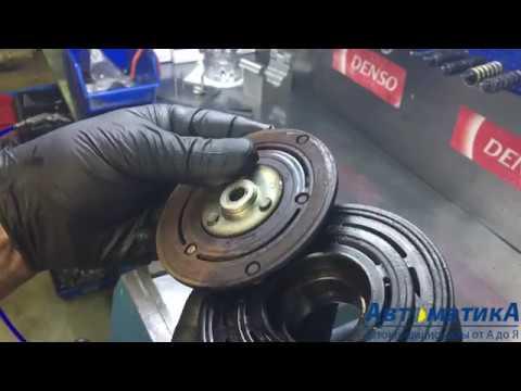 Как заменить подшипник шкива и муфту компрессора кондиционера. Honda CRV 2.4.