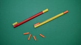 getlinkyoutube.com-Como hacer mini Pistola de Papel que Dispare   Armas Caseras Fáciles