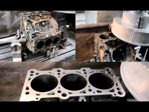Audi AAH 2.8 (V-6) Шлифовка блока цилиндров