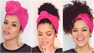 getlinkyoutube.com-#outubrorosa: 3 Amarrações com Turbante + Look do Dia