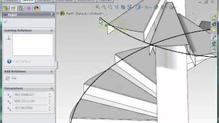 getlinkyoutube.com-How to Model Spiral Stairs in SolidWorks