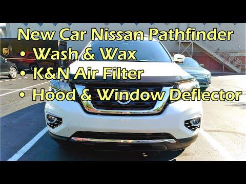 Pathfinder New Car Prep: Wax/K&N Air Filter/Hood & Window Deflector