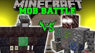 getlinkyoutube.com-CYCLOPS GOLEM VS ORE BOSS - Minecraft Mob Battles - Minecraft Mods