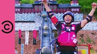 Bringing Back Human Ten Pin Bowling! | Takeshi's Castle