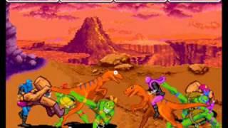 getlinkyoutube.com-Teenage Mutant Ninja Turtles: Turtles in Time 4 player Netplay Arcade game