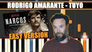 getlinkyoutube.com-TUYO (Rodrigo Amarante || NARCOS) EASY Piano Tutorial / Cover SYNTHESIA