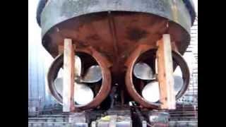 Tugboat on drydock