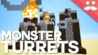 getlinkyoutube.com-How To Build Redstone MOB TURRETS in Minecraft!