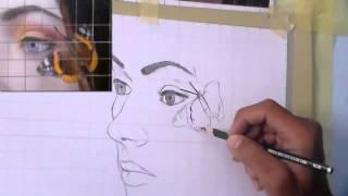 getlinkyoutube.com-Using the grid method for drawing - الرسم باستعمال تقنية المربعات
