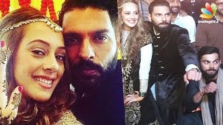 getlinkyoutube.com-Yuvraj Singh, Hazel Keech tie the knot amidst Virat Kohli & friends | Celebrity Wedding