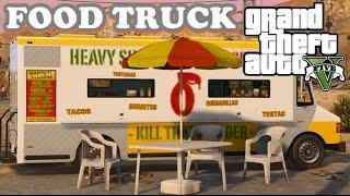 getlinkyoutube.com-GTA V Mods -  Food Truck : Comprando comida na rua
