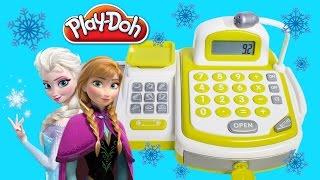 ❤ FROZEN CASH REGISTER ❤ Supermarket Disney Princess Anna Elsa Shopping Play Doh Food