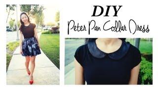 getlinkyoutube.com-DIY Peter Pan Collar Dress