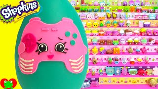 getlinkyoutube.com-Shopkins Pink Connie Console Play Doh Surprise Egg and Limited Edition Hunt
