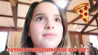 Eating Everything She Can See 🍕 (WK 353.4) | Bratayley