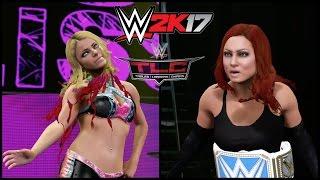 getlinkyoutube.com-WWE 2K17 | Becky Lynch vs Alexa Bliss Table Match | TLC 2016 Sim