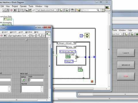 VI High #4: Using Property Nodes in a SubVI to Enable and Disable Controls in a LabVIEW State ...