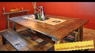 getlinkyoutube.com-How to build a Farmhouse Table - The Most Complete Video Online - Episode 7