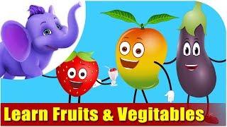 getlinkyoutube.com-Lets Learn Fruits & Vegetables - Preschool Learning