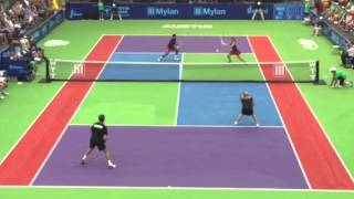 getlinkyoutube.com-Hingis & Paes vs. Austin Aces, Austin TX