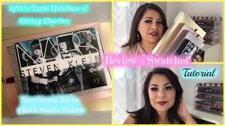 getlinkyoutube.com-Review +Swatches + Tutorial on QVC's Tarte 15pc set and Nars Steven Klein cheek palette