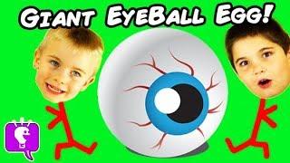 World's Biggest EYEBALL Surprise Eggs! Best Toys + Pranks, Family Fun HobbyKidsTV