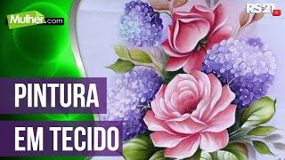 getlinkyoutube.com-Mulher.com 29/05/2014 - Pintura de tecido rosas hortencias por Ana Laura Rodrigues Parte 1