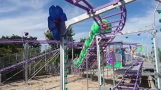 getlinkyoutube.com-Wacky Worm Caterpillar Roller Coaster Ride At Dawlish Warren, Devon, 23 August 2016