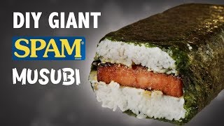 DIY GIANT SPAM MUSUBI - IN HAWAII!! 🍣🍚 width=