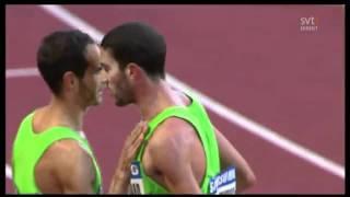 Pelea en competencia de Atletismo