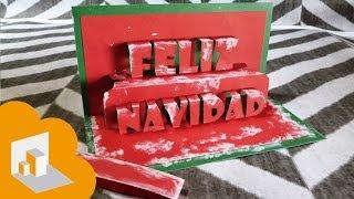 """getlinkyoutube.com-Tarjeta Pop Up """"Feliz navidad"""""""