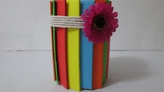 getlinkyoutube.com-DIY : #21 Pencil Holder From RECYCLED Bottle ♥