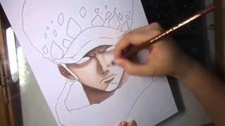 getlinkyoutube.com-Speed Drawing - Trafalgar Law (One Piece)