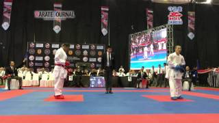 getlinkyoutube.com-AKF2016 Junior Kumite Male -68 kg KOZAKI YUGO (JPN) vs FAQIH KAROMI (INA)