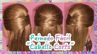 PEINADO FACIL PARA CABELLO CORTO |  SHORT HAIR HAIRSTYLE - VIRIYUEMOON