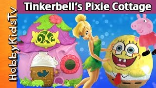 getlinkyoutube.com-Disney TINKERBELL Pixie Cottage Box Open! Spongebob Funko Pop Ariel Peppa Pig by HobbyKidsTV