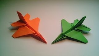 getlinkyoutube.com-Como hacer un avión de papel F-16 Jet Fighter