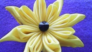 getlinkyoutube.com-DIY-handmade-berkreasi membuat bunga dari kain satin-creative to make flowers of satin