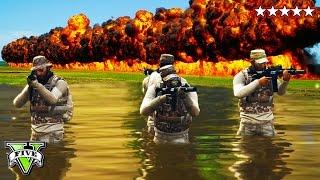 getlinkyoutube.com-GTA 5 Epic 5 STAR SURVIVAL  | 5 Star POLICE Getaway | GTA 5 Online Police Massacre  Destruction
